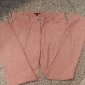 2 for $20 Chaus Pink Rose Design Jeans Size 8